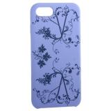 Чехол-накладка силиконовый Silicone Cover для iPhone 7 Узор Сиреневый