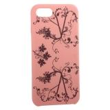 Чехол-накладка силиконовый Silicone Cover для iPhone 8 (4.7) Узор Розовый
