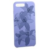 Чехол-накладка силиконовый Silicone Cover для iPhone 8 Plus Орхидея Сиреневый