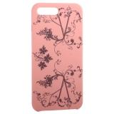 Чехол-накладка силиконовый Silicone Cover для iPhone 8 Plus Узор Розовый