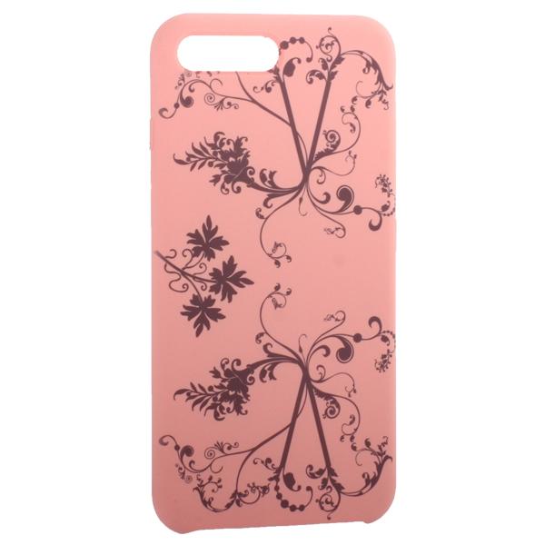 Чехол-накладка силиконовый Silicone Cover для iPhone 7 Plus (5.5) Узор Розовый