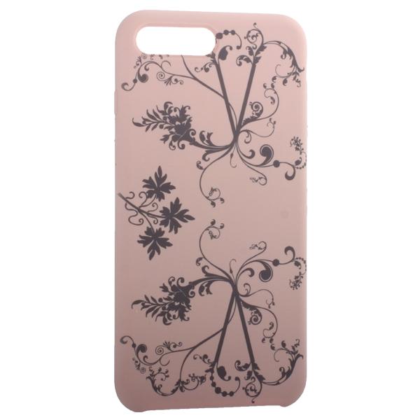 Чехол-накладка силиконовый Silicone Cover для iPhone 7 Plus (5.5) Узор Светло-коралловый