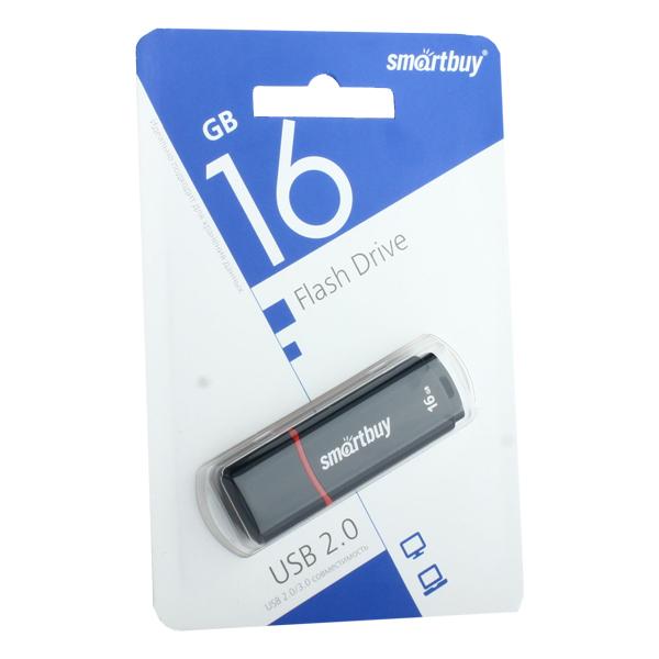 Флеш-накопитель SmartBuy 16Gb USB 2.0/ 3.0 Flash Drive (SB16GBCRW-K) Crown Series