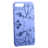 Чехол-накладка силиконовый Silicone Cover для iPhone 8 Plus Узор Сиреневый