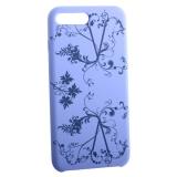 Чехол-накладка силиконовый Silicone Cover для iPhone 8 Plus (5.5) Узор Сиреневый