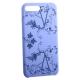 Чехол-накладка силиконовый Silicone Cover для iPhone 7 Plus (5.5) Узор Сиреневый