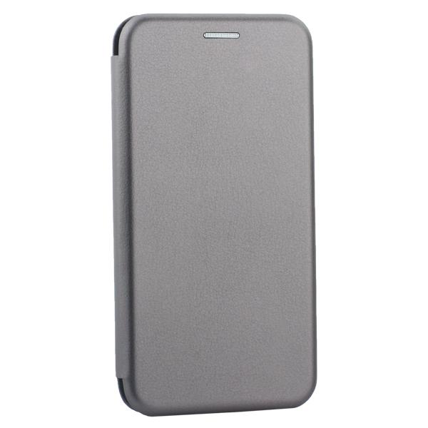Чехол-книжка кожаный Innovation Case для iPhone XS (5.8) Графитовый