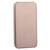 Чехол-книжка кожаный Innovation Case для iPhone XS Розовое золото