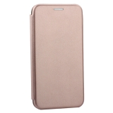 Чехол-книжка кожаный Innovation Case для iPhone X Розовое золото