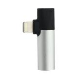 Аудио-переходник Baseus L43 IP Male to 3.5 mm and Lightning Female Adapter (с разъемом для зарядки) CALL43-S1 Серебристый