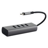 Переходник Baseus Enjoy series Type-C to HUB 5в1 (CAHUB-Q0G) Type-C to USB3.0x4/ Type-C Графитовый
