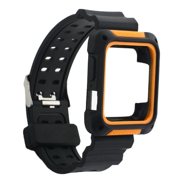 Ремешок COTEetCI W39 Integrated Movement Band (WH5267-BO) для Apple Watch  38 мм Черно-Оранжевый