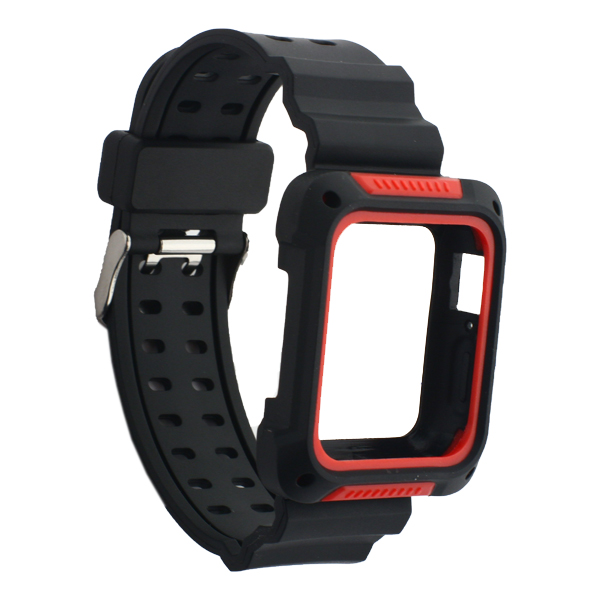 Ремешок COTEetCI W39 Integrated Movement Band (WH5267-BR) для Apple Watch 38 мм Черно-Красный