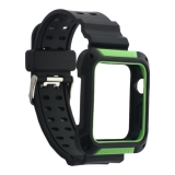 Ремешок COTEetCI W39 Integrated Movement Band (WH5268-BG) для Apple Watch 44мм Черно-Зеленый