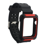 Ремешок COTEetCI W39 Integrated Movement Band (WH5268-BR) для Apple Watch 44мм Черно-Красный