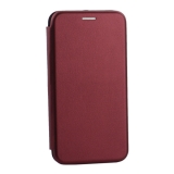 Чехол-книжка кожаный Innovation Case для Samsung Galaxy S10 Lite Бордовый