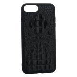 Накладка кожаная Vorson под крокодила для iPhone 8 Plus силиконовый борт Черная