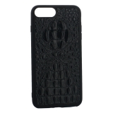Накладка кожаная Vorson под крокодила для iPhone 8 Plus (5.5) силиконовый борт Черная