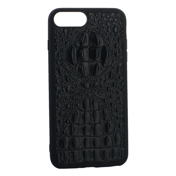 Накладка кожаная Vorson под крокодила для iPhone 7 Plus (5.5) силиконовый борт Черная