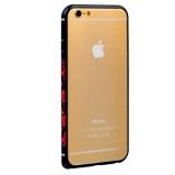 Бампер металлический iBacks Colorful Arc-shaped Loulan Aluminium Bumper for iPhone 6s/ 6 (4.7) - gold edge (ip60015) Черный