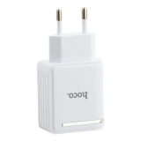Адаптер питания Hoco C39A Enchanting dual-port digital display charge (2USB: 5V max 2.4A) Белый
