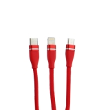 USB дата-кабель Innovation (O3IMT-OCTOPUS) 3в1 Lightning+MicroUSB+Type-C Cable 2A (1.2м) Красный