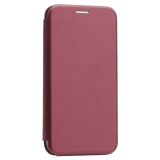 Чехол-книжка кожаный Innovation Case для iPhone X (5.8) Бордовый