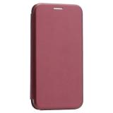 Чехол-книжка кожаный Innovation Case для iPhone XS Бордовый