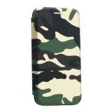 Чехол-книжка кожаный Innovation Case для iPhone XS Камуфляж