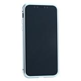 Чехол закаленное стекло с магнитной рамкой Baseus Magnetite Hardware (WIAPIPH58-CS0S) для iPhone X (5.8) Серебристый