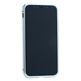 Чехол закаленное стекло с магнитной рамкой Baseus Magnetite Hardware (WIAPIPH58-CS0S) для iPhone X Серебристый