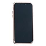 Чехол закаленное стекло с магнитной рамкой Baseus Magnetite Hardware (WIAPIPH58-CS0V) для iPhone X Розовое золото