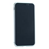 Чехол закаленное стекло с магнитной рамкой Baseus Magnetite Hardware (WIAPIPH65-CS0S) для iPhone XS Max (6.5) Серебристый