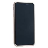 Чехол закаленное стекло с магнитной рамкой Baseus Magnetite Hardware (WIAPIPH65-CS0V) для iPhone XS Max (6.5) Розовое золото