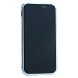 Чехол закаленное стекло с магнитной рамкой Baseus Magnetite Hardware (WIAPIPH61-CS0S) для iPhone XR (6.1) Серебристый
