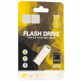 Флеш-накопитель Hoco UD4 Intelligent high-speed Flash Drive metal 64Gb Серебристый