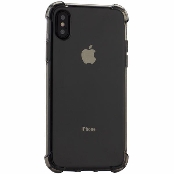Чехол силиконовый Innovation для iPhone X (5.8) противоударный дымчатый