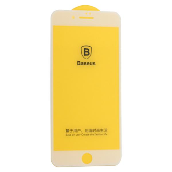 Стекло защитное Baseus 3D Arc-Surface Anti-Fingerprints SGAPIPH8P-AJG02 для iPhone 8 Plus/ 7 Plus (5.5) 0.30mm White