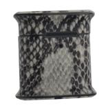 Чехол пластиковый Mobest для AirPods 2 кожа змеи Черный