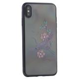 Чехол-накладка KINGXBAR для iPhone XS Max (6.5) пластик со стразами Swarovski 49F черный (Журавль)