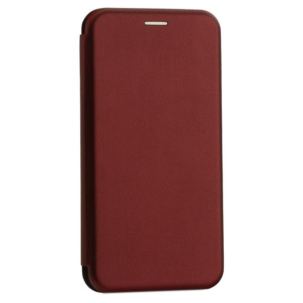 Чехол-книжка кожаный Innovation Case для Samsung Galaxy A20 Бордовый