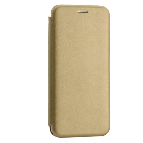 Чехол-книжка кожаный Innovation Case для Samsung Galaxy A20 Золотой