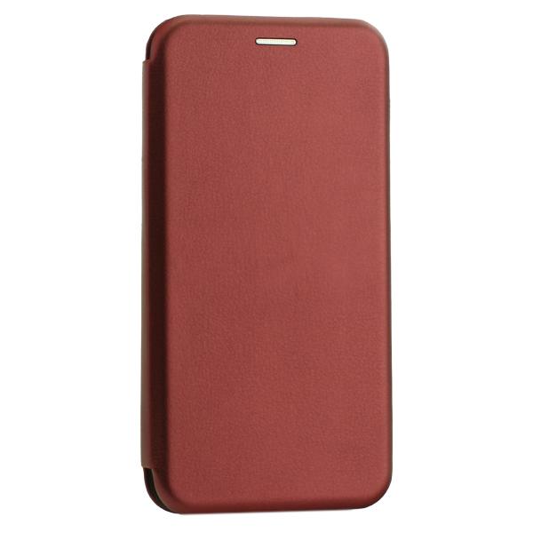 Чехол-книжка кожаный Innovation Case для Samsung Galaxy A30 Бордовый