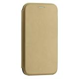 Чехол-книжка кожаный Innovation Case для Samsung Galaxy A40 Золотой