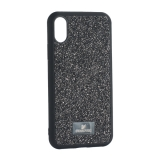 Чехол-накладка силиконовая со стразами SWAROVSKI Crystalline для iPhone XS (5.8) Черный №2