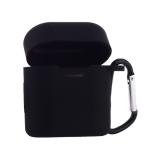 Чехол силиконовый с карабином & гарнитура COTEetCI для Huawei FreeBuds 2 (CS8132-BK) Черный