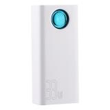Аккумулятор внешний универсальный Baseus Amblight Quick Charge 33W (3USB: 5V-2.4A & 1USB: 5V-3A) (PPLG-C02) 30000 mAh Белый