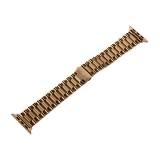 """Ремешок блочный-спираль из нержавеющей стали COTEetCI W26 застежка """"бабочка"""" (WH5240-GD) для Apple Watch 42 мм Золотистый"""