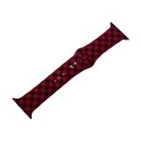 Ремешок силиконовый COTEetCI W45 Color (WH5279-RB) для Apple Watch 42 мм Red and black grid Красно-черная клетка