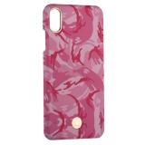 Чехол-накладка KINGXBAR для iPhone XS Max (6.5) пластик со стразами Swarovski (Розовый камуфляж)
